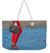 Fashionably Red Weekender Tote Bag