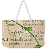 Fathers Day Card, 1912 Weekender Tote Bag