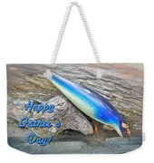Fathers Day Greeting Card - Vintage Floyd Roman Nike Fishing Lure Weekender Tote Bag