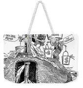 F.d.r. Cartoon, 1930s Weekender Tote Bag