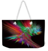 Feathery Bouquet On Black - Abstract Art Weekender Tote Bag