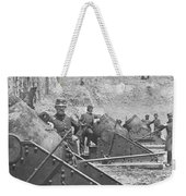Federal Siege Guns Yorktown Virginia During The American Civil War Weekender Tote Bag