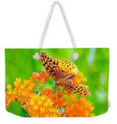 Feeding Butterfly Weekender Tote Bag