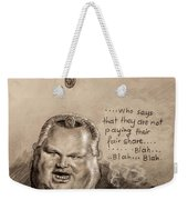 Feeding The Talking Heads Like Rush Limbaugh And Co Weekender Tote Bag