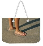Feet In The Wet Sand Of A Beach Wait Weekender Tote Bag