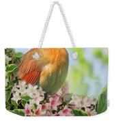 Female Cardnial In Wegia Digital Art Weekender Tote Bag