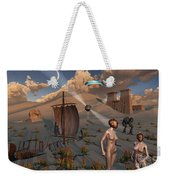 Female Explorers Study Ancient Egyptian Weekender Tote Bag