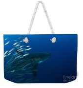 Female Great White Shark With A School Weekender Tote Bag