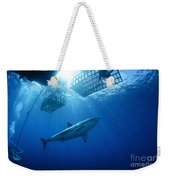 Female Great White With Cages Weekender Tote Bag