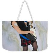 Female Guitarist Weekender Tote Bag