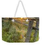 Fence Along The Shore Weekender Tote Bag