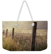 Fence And Field. Trossachs National Park. Scotland Weekender Tote Bag