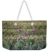 Fence And Flowers Weekender Tote Bag