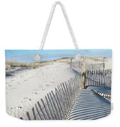 Fences Shadows And Sand Dunes Weekender Tote Bag