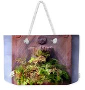 Fern In Antique Wall Planter Weekender Tote Bag