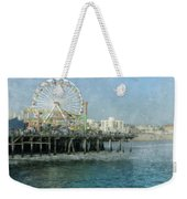 Ferris Wheel On The Santa Monica Pier Weekender Tote Bag