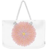 Fibonacci Image With Reticulation In  Blue And Orange Weekender Tote Bag