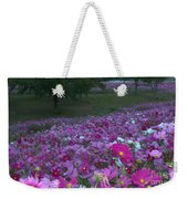 Field Of Flowers Along The Highway  Weekender Tote Bag
