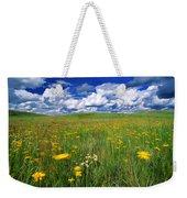 Field Of Flowers, Grasslands National Weekender Tote Bag