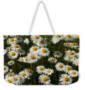 Field Of Oxeye Daisy Wildflowers Weekender Tote Bag