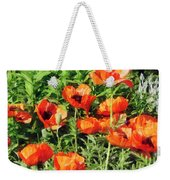 Field Of Red Poppies Weekender Tote Bag