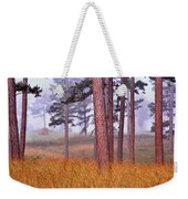 Field Pines And Fog In Shannon County Missouri Weekender Tote Bag