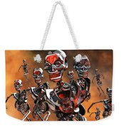 Fierce Androids Riot The City Of Tokyo Weekender Tote Bag by Mark Stevenson