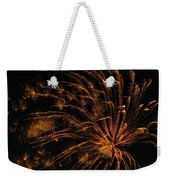 Fiery Weekender Tote Bag by Rhonda Barrett