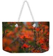 Fiery Spring Weekender Tote Bag