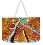 Fiery Trees Weekender Tote Bag