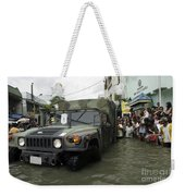 Filipino Citizens Stand In Line Weekender Tote Bag