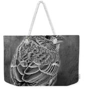 Finch Black And White Weekender Tote Bag