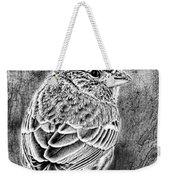 Finch Grungy Black And White Weekender Tote Bag