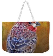 Finch With Gold Texture Weekender Tote Bag