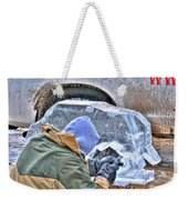 Fine Tuning Buffalo At Winter Fest Weekender Tote Bag