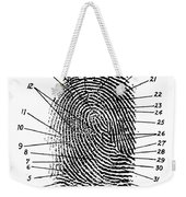 Fingerprint Diagram, 1940 Weekender Tote Bag