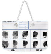 Fingerprint Identification Application Weekender Tote Bag