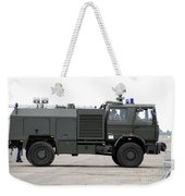 Fire Engine Of The Belgian Army Located Weekender Tote Bag by Luc De Jaeger