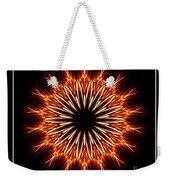 Fire Kaleidoscope Effect Weekender Tote Bag