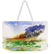 Fire On The Pond Weekender Tote Bag