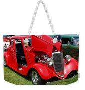 Fire Red Classic Weekender Tote Bag