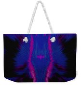 Fire Wolf Abstract Weekender Tote Bag