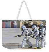 Firefighters Execute Fire Containment Weekender Tote Bag