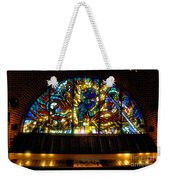 Fireman's Hall Stained Glass Weekender Tote Bag