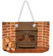 Fireplace Weekender Tote Bag