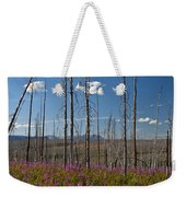 Fireweed  Epilobium Angustifolium Glacier National Park Usa -1 Weekender Tote Bag