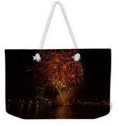 Fireworks On River Thames Weekender Tote Bag