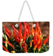 Firey Red Hot Chili Peppers Weekender Tote Bag