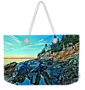 First Light At Bass Harbor Weekender Tote Bag