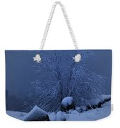 First Snow At First Light Weekender Tote Bag